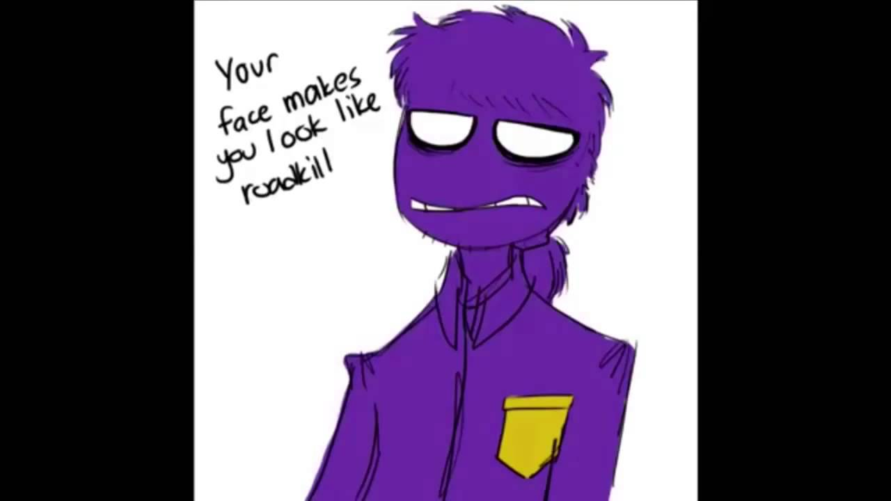 Purple man comics fnaf comic dub purple guy s hair youtube