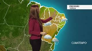Previsão Nordeste -  Tempo instável no litoral da BA e SE