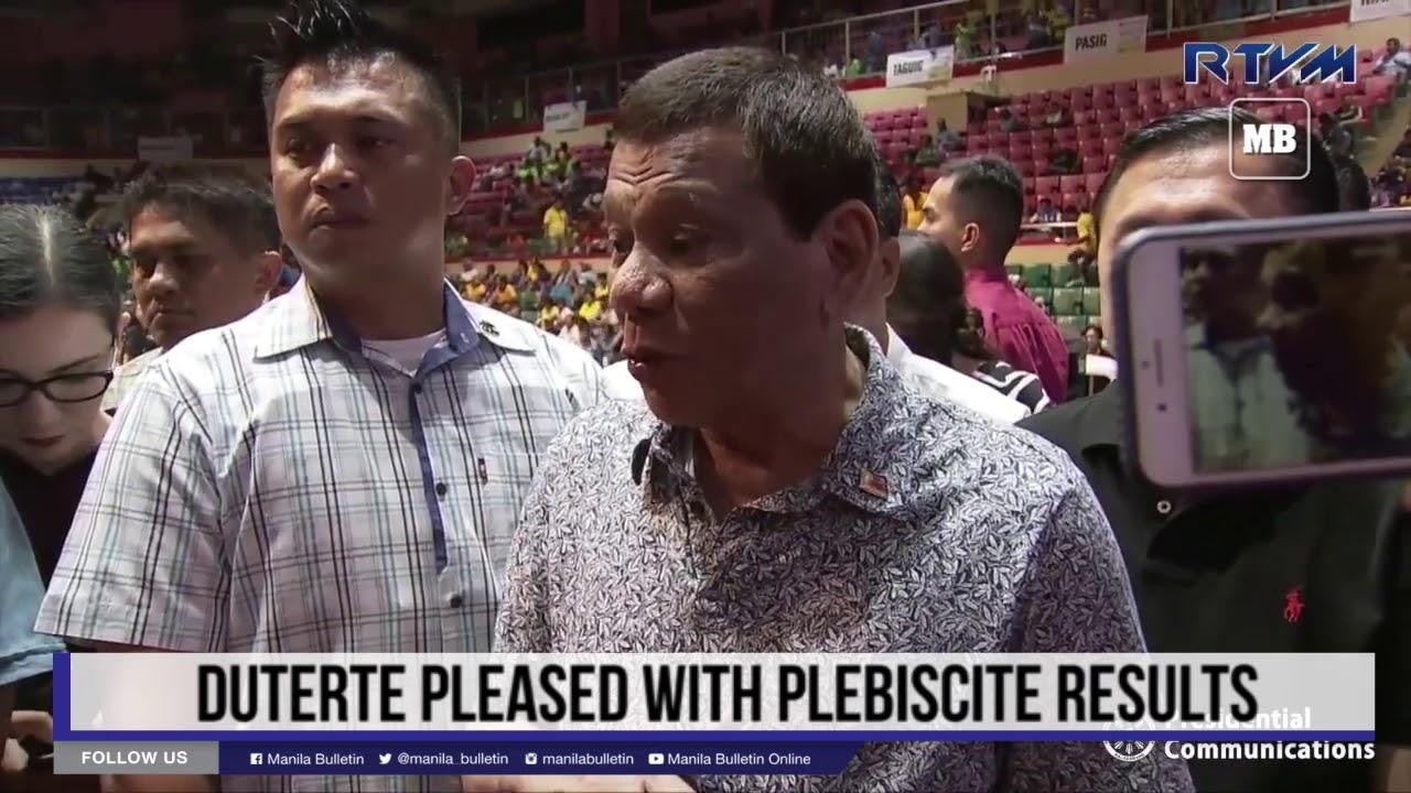 Duterte pleased with plebiscite results