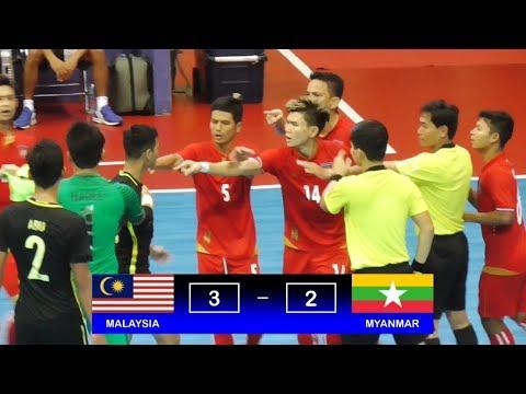 Highlights Malaysia Vs Myanmar (3-2) AFF Futsal Championship 2018