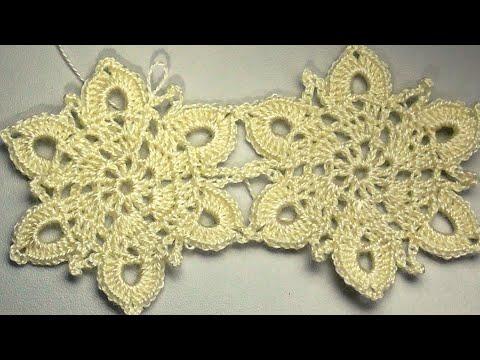 MOTIV FLOWER For Shawl CROCHET Мотив цветок для шали или платья