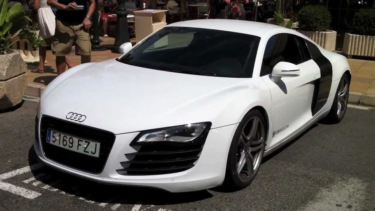 Lionel Messi Driving His Audi R8 In Monaco Youtube