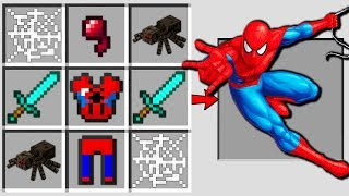 Minecraft Battle : HOW TO CRAFT SPIDER MAN Challenge in Minecraft Animation