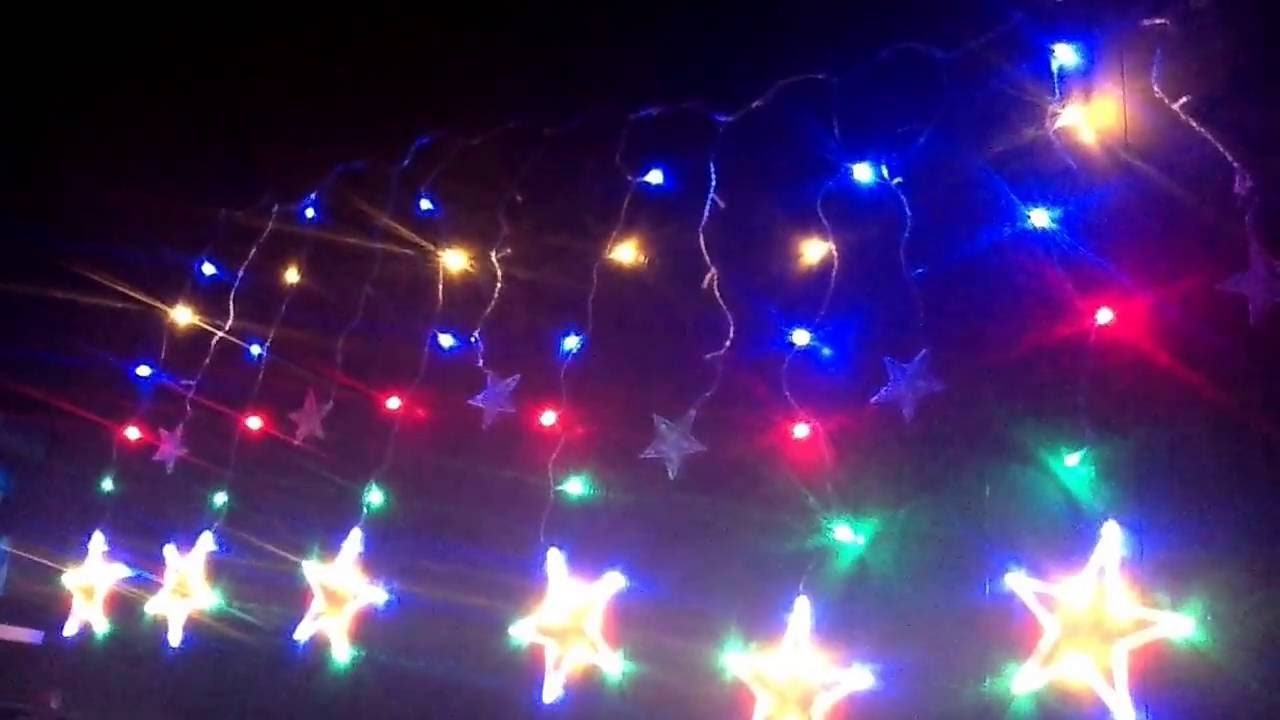 Christmas Star Lights Ai Led Curtain 138 Leds Strobe Light Stars You