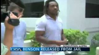 KXAN-Cedric Benson released from jail again