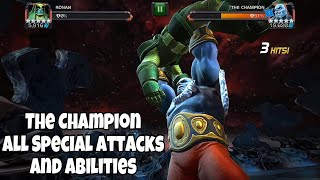 The Champion All Special Attacks and Abilities | Marvel contest of champions