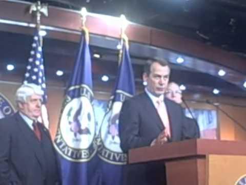 """Boehner: Dems' Tax Cut Push """"Chicken Crap"""""""