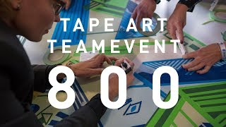 Tape Art Teambuilding (800 Participants)