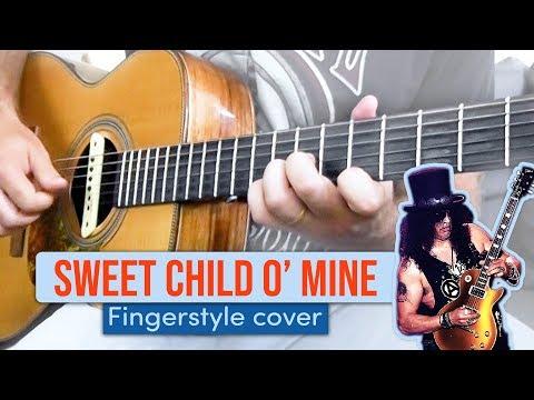 Sweet Child O' Mine Em VIOLÃO FINGERSTYLE (solo E Base Juntos!)