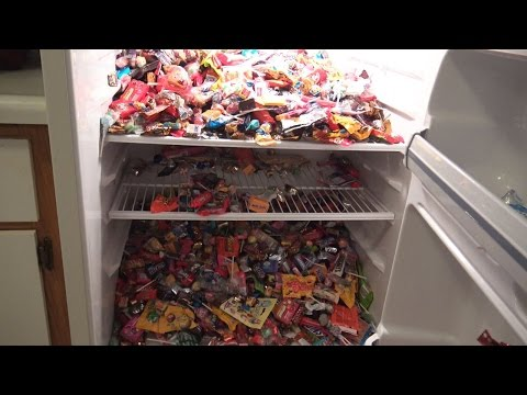NEW NEW NEW!!!a lot of candy , refrigerator full of sweets  part 2