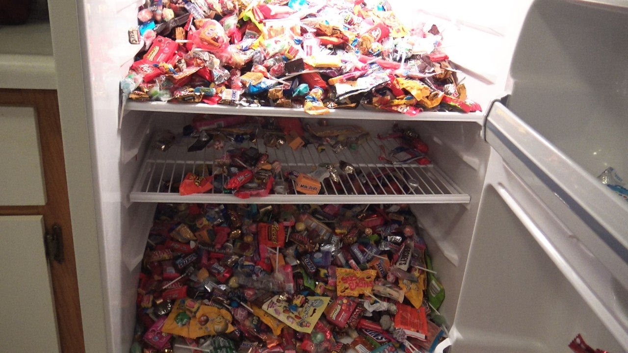 New New New A Lot Of Candy Refrigerator Full Of Sweets