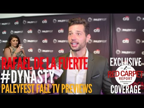 Rafael de la Fuente #Dynasty interviewed at The CW series 'Dynasty' preview at PaleyFest  #PaleyFest