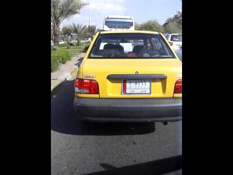 Driving through Baghdad