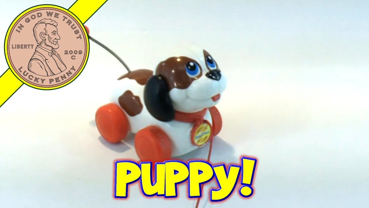 Fisher Price Pull Along Wagging Tail Puppy Dog Toy Kids Toy