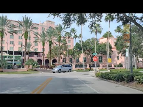 Driving Downtown - St Petersburg Florida USA