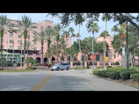 Driving Downtown - St Petersburg Florida USA