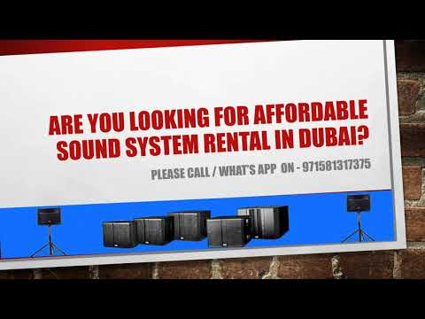 Sound Rental Company in Dubai, United Arab Emirates