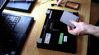 Tutorial: Replace Laptop Harddrive with SSD, Dell E4300 + C300 64gb in 1080P