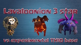 [Clash of Clans] Lava hounds 3 star experimental max TH10 base (Lavaloonion)