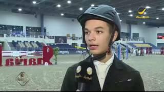 """الفارسة  """" اتينا ساندي """" بطلة الفئة الكبرى بالجولة الثانية من دوري الإمارات لقفز الحواجز"""