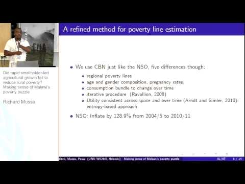 IGA Conference - Economic Development and Poverty in Malawi 1/2