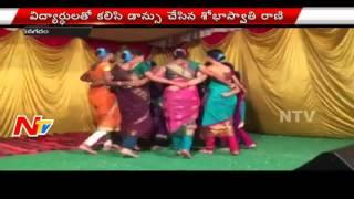 Vizianagaram ZP Chairman Shobha Swati Rani Dances At Ganesh Mandal