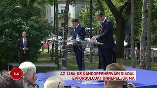 Hunyadi János szobrot emeltek Belgrádban a nándorfehérvári diadal emlékére