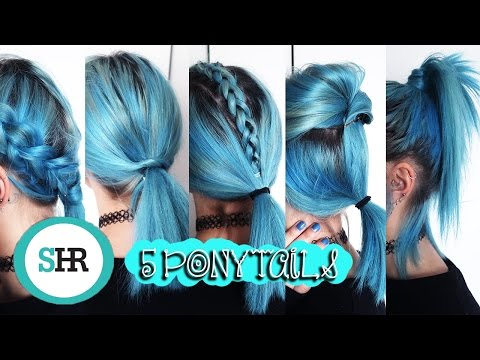5 CUTE & EASY PONYTAIL HAIRSTYLES