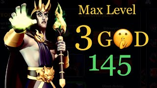 GODS OF OLYMPUS HADES DAILY CHALLENGE MAX LEVEL 145-140 ( ONLY 3 GOD ) Video