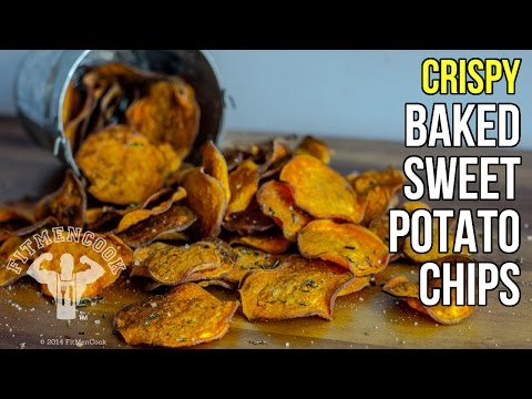 Homemade crispy baked sweet potato fries