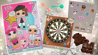 LOL Surprise Chocolate Advent Calendar Mini Dart Game | L.O.L. Galerie Holiday Countdown Opening