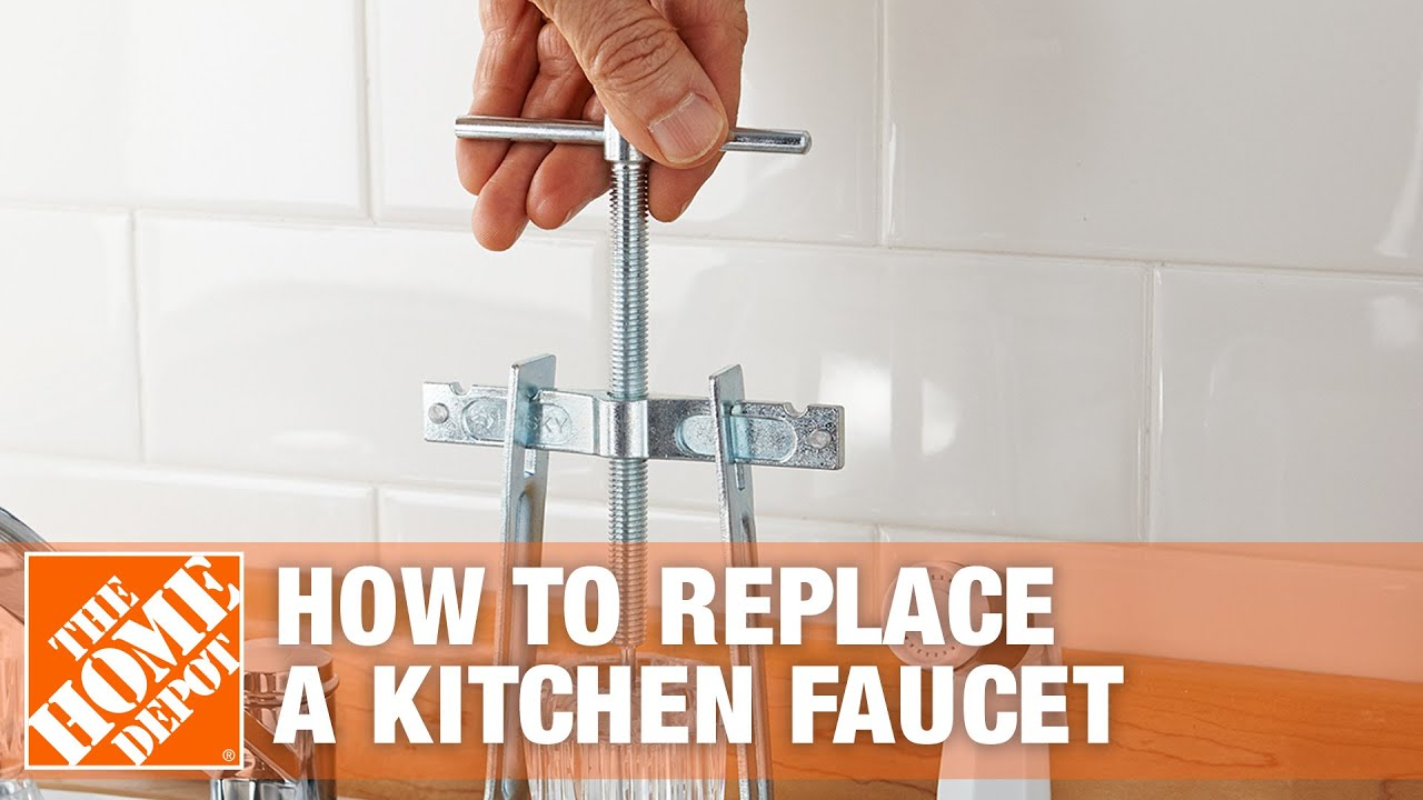How To Replace A Kitchen Faucet With Two Handles The Home Depot Youtube