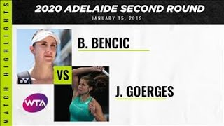 Belinda Bencic vs. Julia Goerges | 2020 Adelaide International Second Round | WTA Highlights