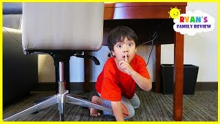Ryan plays Hide and Seek in a Hotel with Mommy and Daddy!
