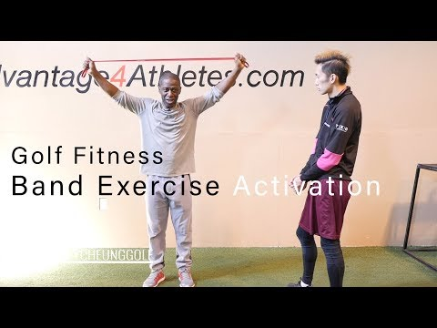 Golf Fitness – Band Exercise Activation and Warmup for Glutes and Shoulders