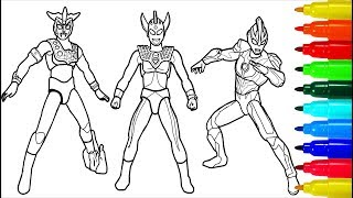 Ultraman Leo Ginga Taro Coloring Pages | Colouring Pages for Kids with Colored Markers