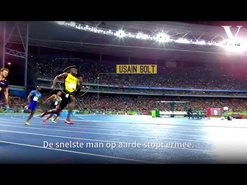 Dit is hoe Usain Bolt de snelste 100 meter ooit rende - de Volkskrant