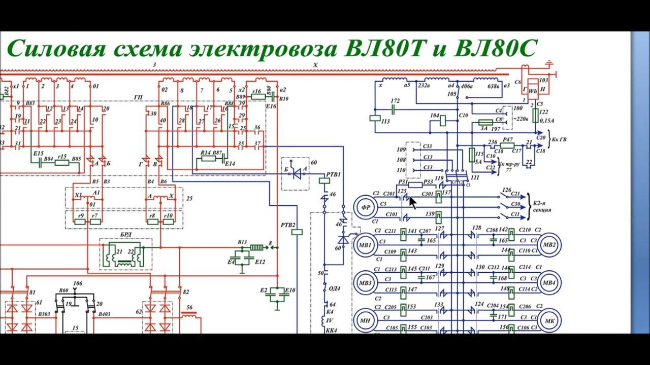 Электрическая схема электровоза вл 80с 161