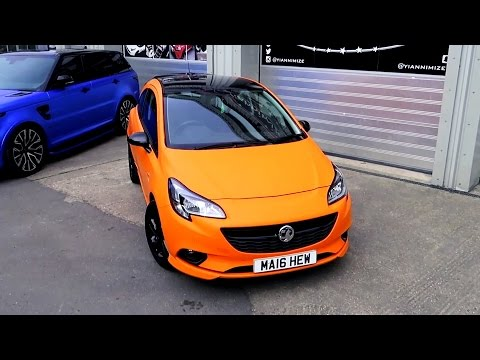 Vauxhall Corsa Wrapped Matte Orange - aka Opel Corsa