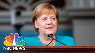 Angela Merkel Makes Swipe At President Trump At Harvard: 'Tear Down Walls Of Ignorance' | NBC News