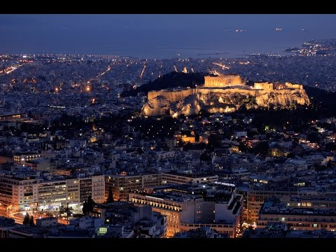 Athens monuments at Night.