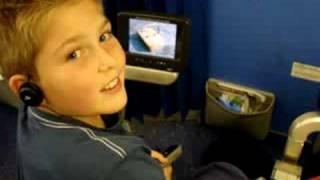 in het KLM vliegtuig