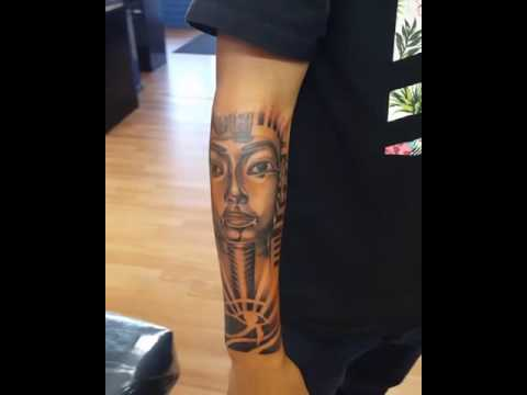 King tut tattoo - YouTube