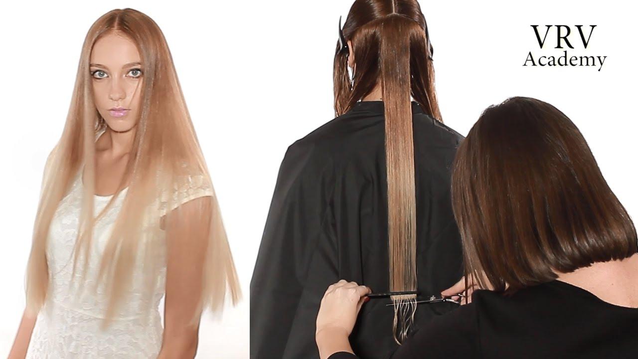 Как выстричь челку из волос одной длинны