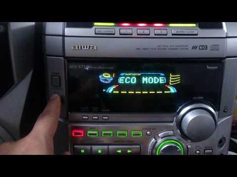 Poner hora en pantalla Aiwa NSX-S777
