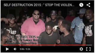 "SELF DESTRUCTION  2015 :  "" STOP THE VIOLENCE MOVEMENT """