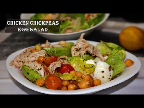 Chicken Chickpeas and Egg Salad Chickpea Egg Salad  Simple Keto Friendly Recipe