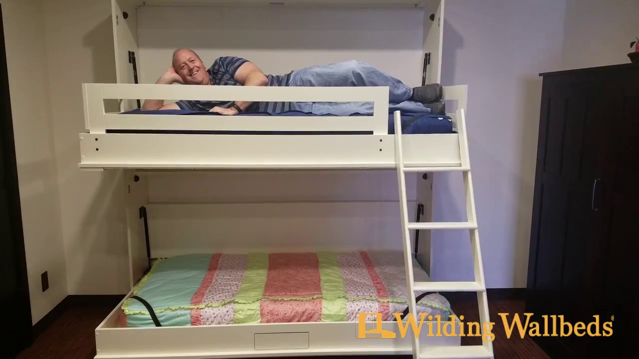 bunk wallbed demonstrationwilding wallbeds - youtube
