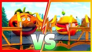 NEW! FOOD FIGHT GAME MODE! (Durr Burger Vs Tomatohead!) Fortnite Battle Royale