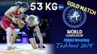Gold Match - Female Wrestling 53 kg - S. YOSHIDA (JPN) vs S. MATTSSON (SWE) - Tashkent 2014